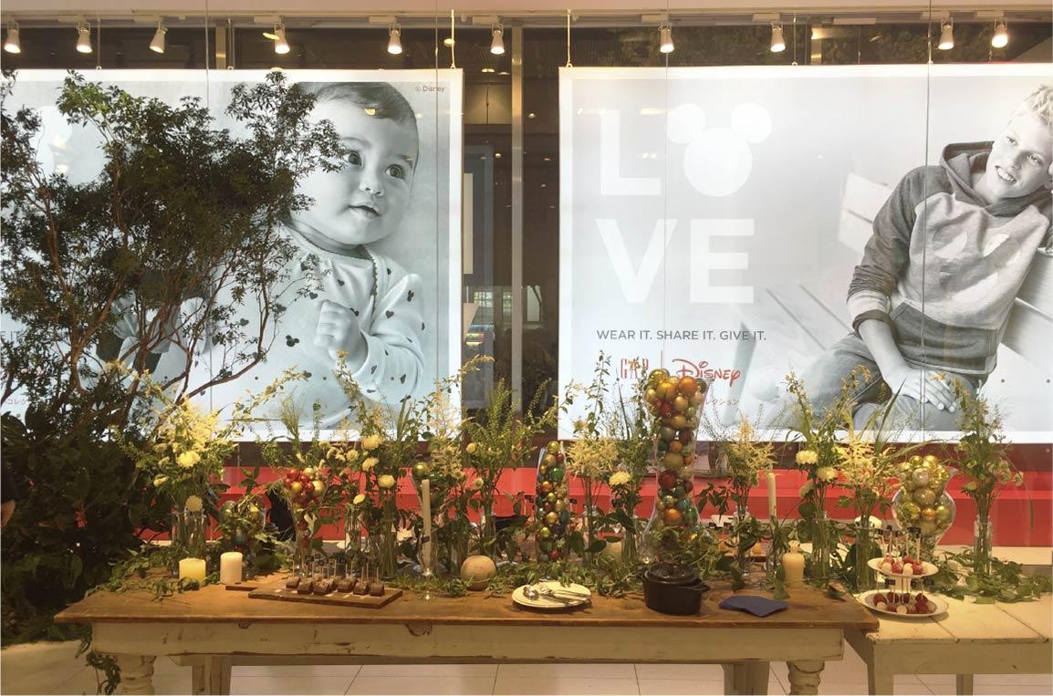 GAP 「Happy Holiday Party」 at Flagshipstore Harajuku Display